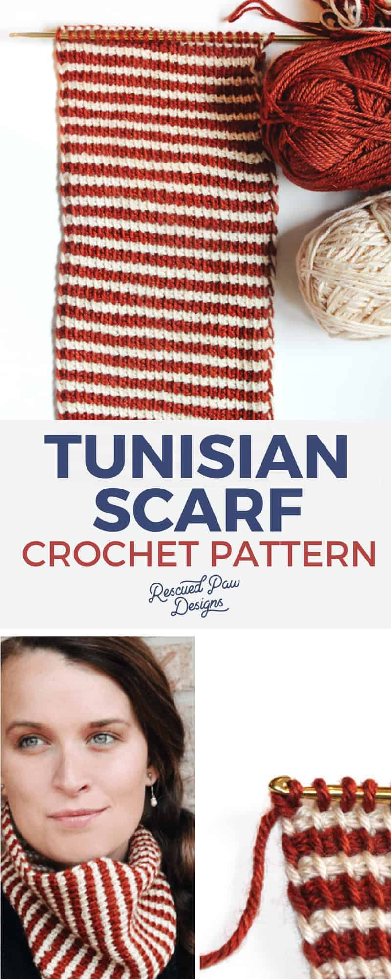 Tunisian Crochet Pattern from Rescued Paw Designs