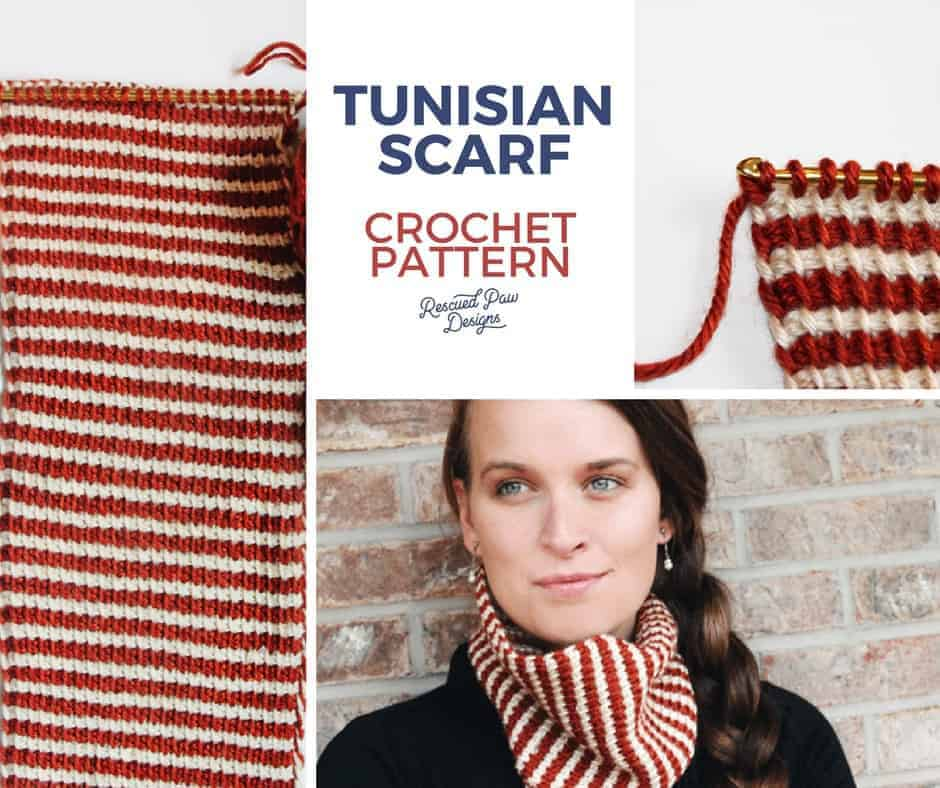 Tunisian Crochet Cowl Pattern! Click to Read or Pin and Save for later!