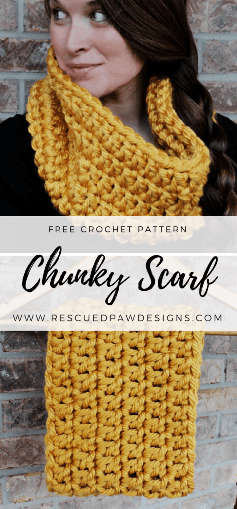 Chunky Infinity Scarf Crochet Pattern - Make one today or Pin and Save for Later!