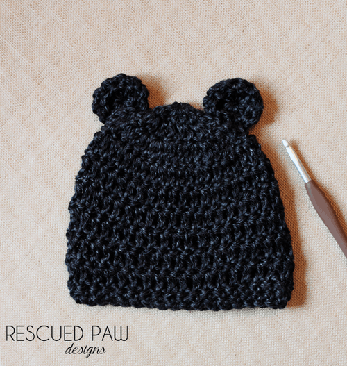a391b77a153 Bear Crochet Hat Pattern - Rescued Paw Designs Crochet