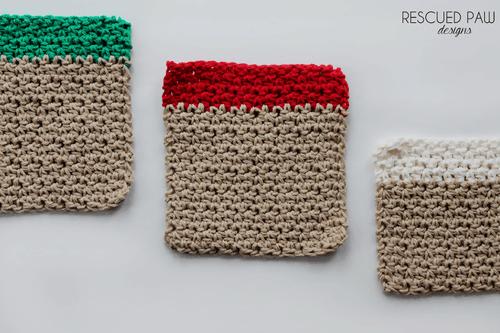 Christmas Washcloth Crochet Pattern