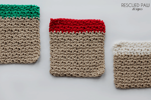 Christmas Washcloth Crochet Pattern