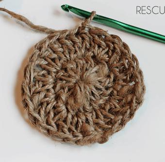 Jute Twine Coaster Crochet Pattern