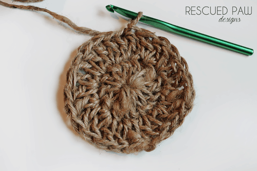 Jute Twine Coaster Crochet Pattern Rescued Paw Designs Crochet