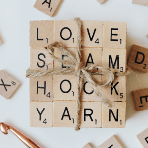 DIY Crochet Scrabble Tile Coasters
