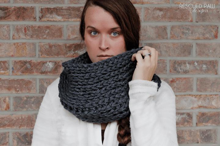 Chunky Cozy Crochet Cowl Rescued Paw Designs Crochet