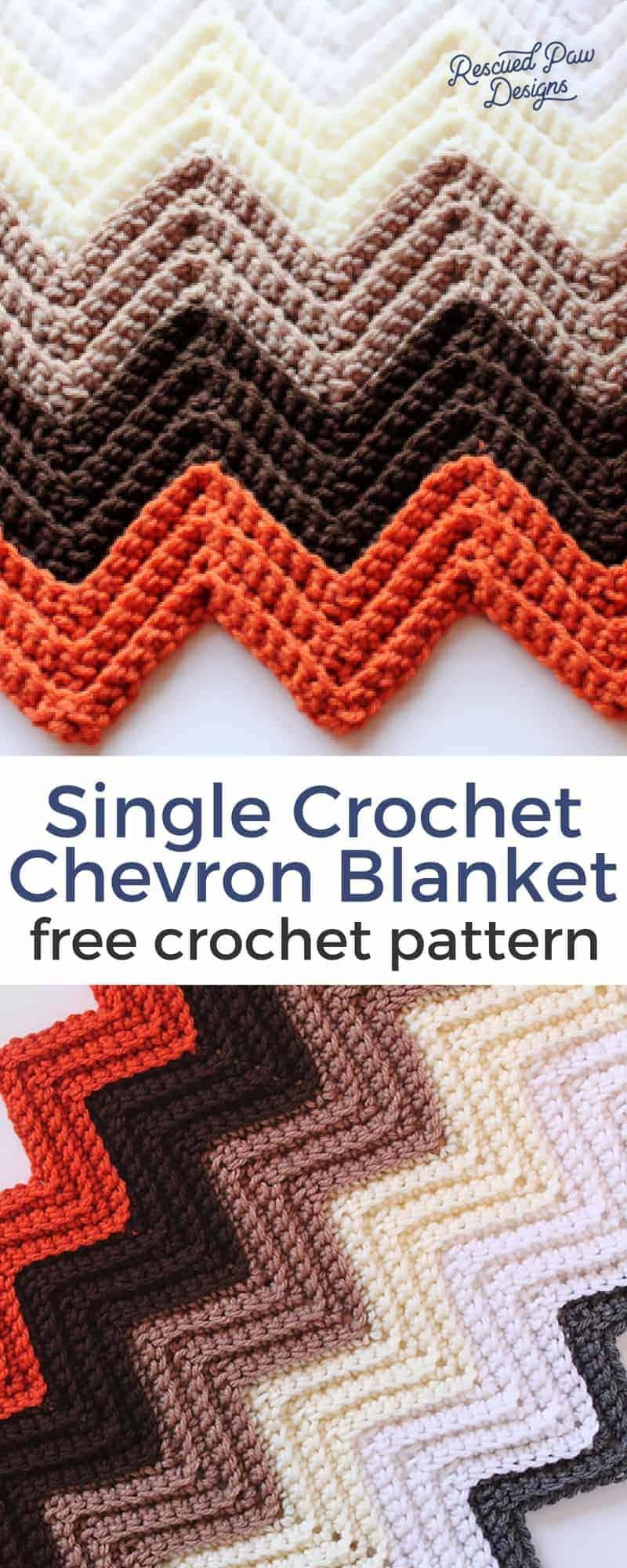 Single Crochet Chevron Blanket Pattern - Free Crochet ...