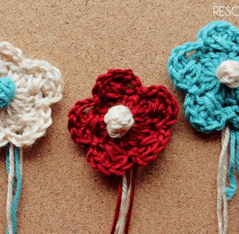 Crochet Criss-Cross Bobble Flower