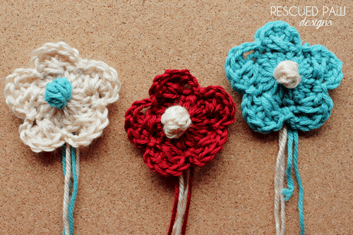 Crochet Criss-Cross Bobble Flower