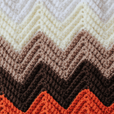 Single Crochet Chevron Blanket