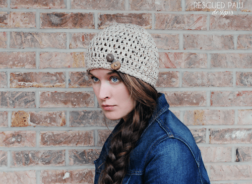 Simple Crochet Button Hat