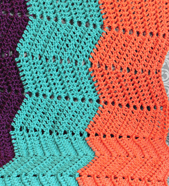 Crochet Ripple Blanket Progress