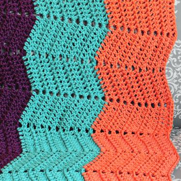 Crochet Wave Blanket Chevron Pattern