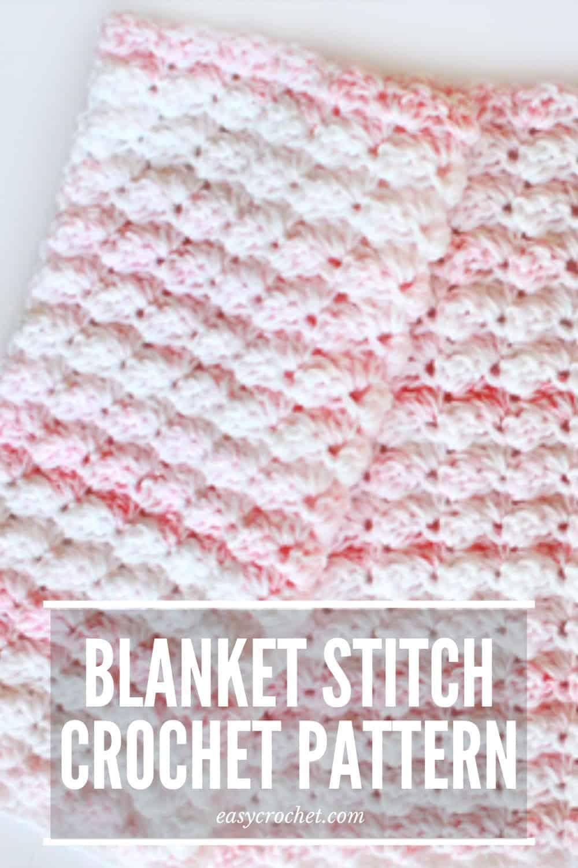 Blanket Stitch Crochet Baby Blanket Pattern via @easycrochetcom