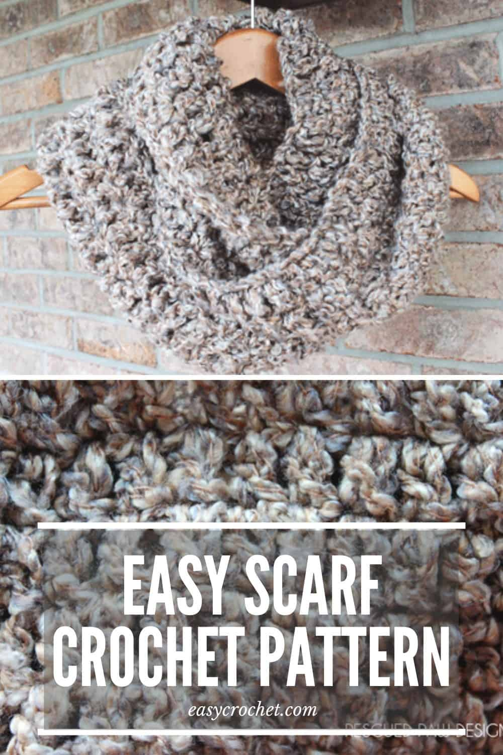 Crochet this easy and beginner-friendly crochet scarf that uses only Double crochets! via @easycrochetcom