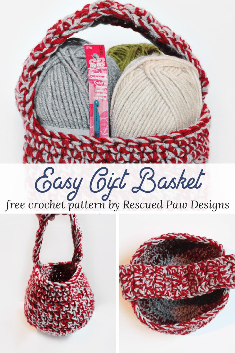 Crochet Gift Basket Pattern - How to Crochet A Basket