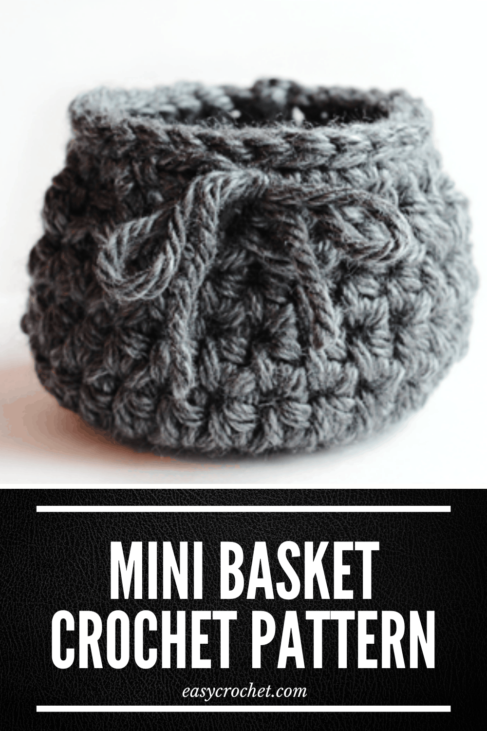 Simple Crochet Basket Pattern via @easycrochetcom