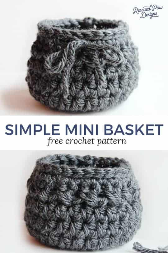Mini Crochet Basket Pattern
