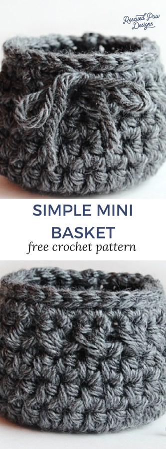 Small Crochet Basket Pattern