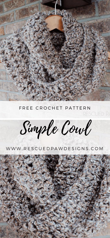 Simple Crochet Scarf Pattern ⋆ Rescued Paw Designs Crochet