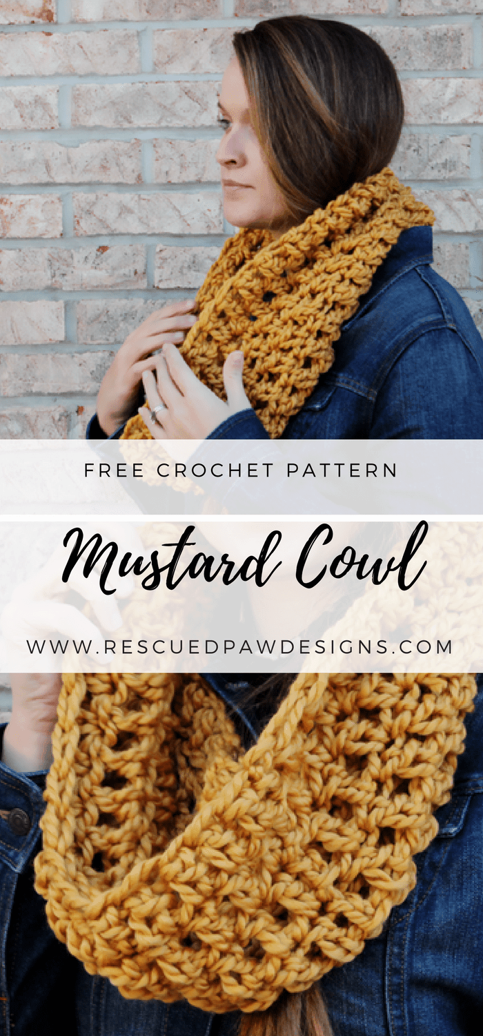 Oversized Crochet Cowl Pattern