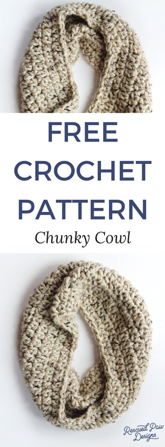 Make this Chunky Crochet Cowl Today with this FREE Pattern! Great for Beginners!