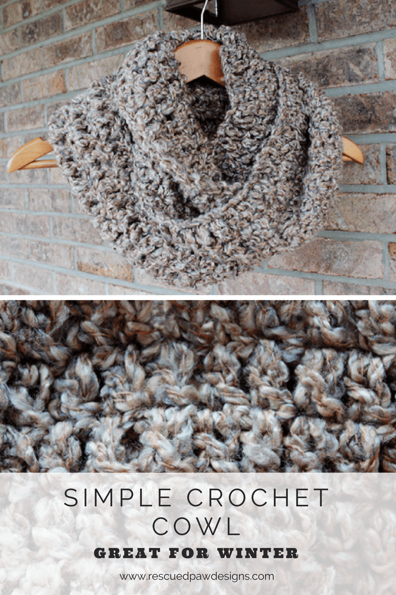 Simple 1 Skein Chunky Crochet Cowl Pattern