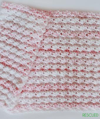Crochet Baby Blanket Using the Blanket Stitch :: Sneak Peek ::