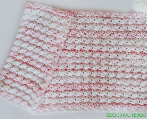 Crochet Baby Blanket Pattern - Free Baby Blanket from Rescued Paw Designs