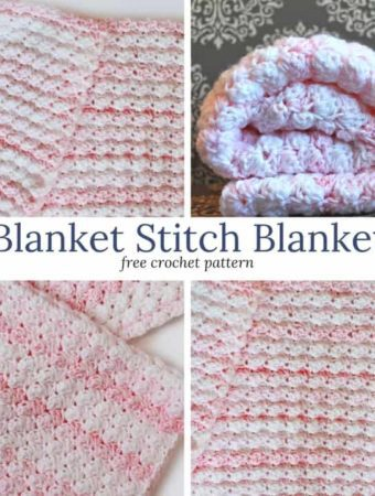 Blanket Stitch Crochet Baby Blanket