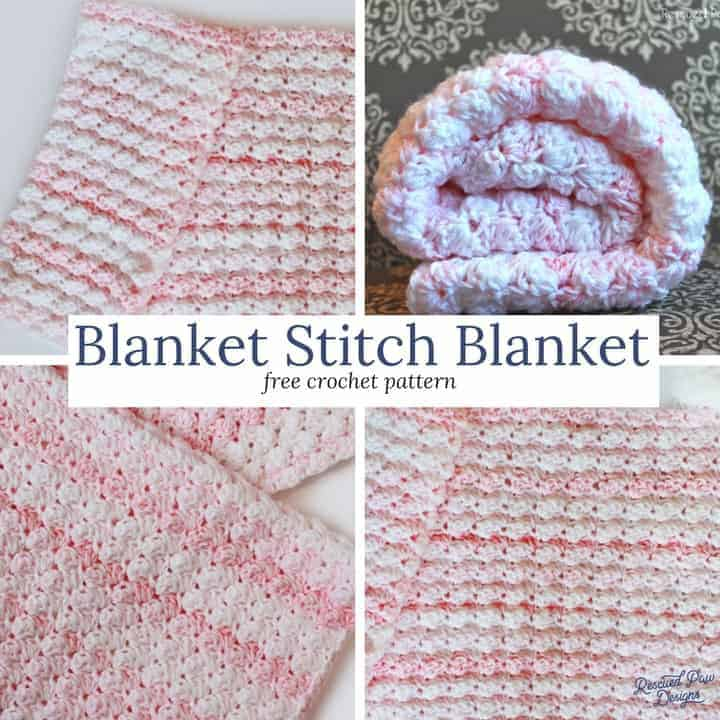 How to Crochet the Blanket Stitch! Make this fun and simple crochet baby blanket today!