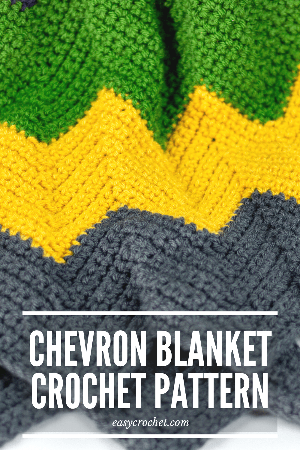 Free chevron crochet blanket pattern using bright and bold colors! Free crochet pattern from Easy Crochet via @easycrochetcom