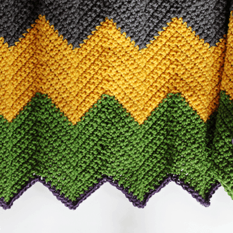 Colorful Chevron Afghan Crochet Pattern