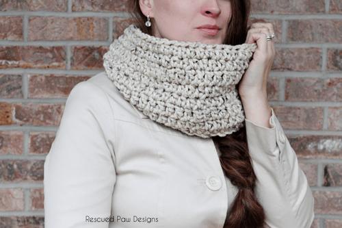 Oatmeal Crochet Cowl Pattern