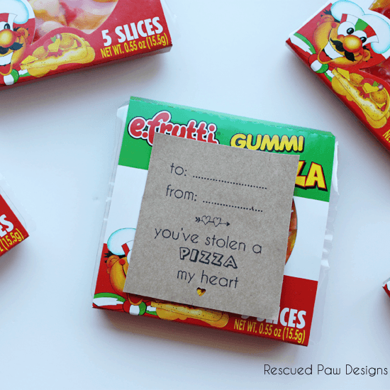 Gummi Pizza Valentine's Day Favor Pizza My Heart