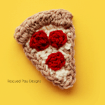 Crochet Pizza Applique Pattern