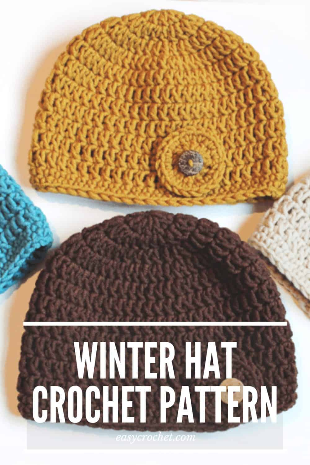 Free Crochet Hat Pattern for Women using only the double crochet from Easy Crochet via @easycrochetcom