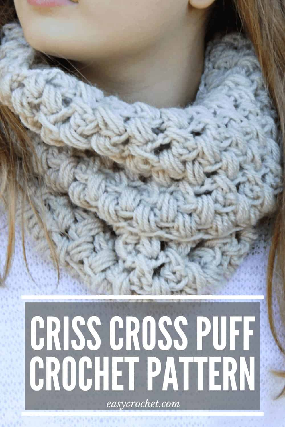 Crochet Puff Stitch Scarf via @easycrochetcom