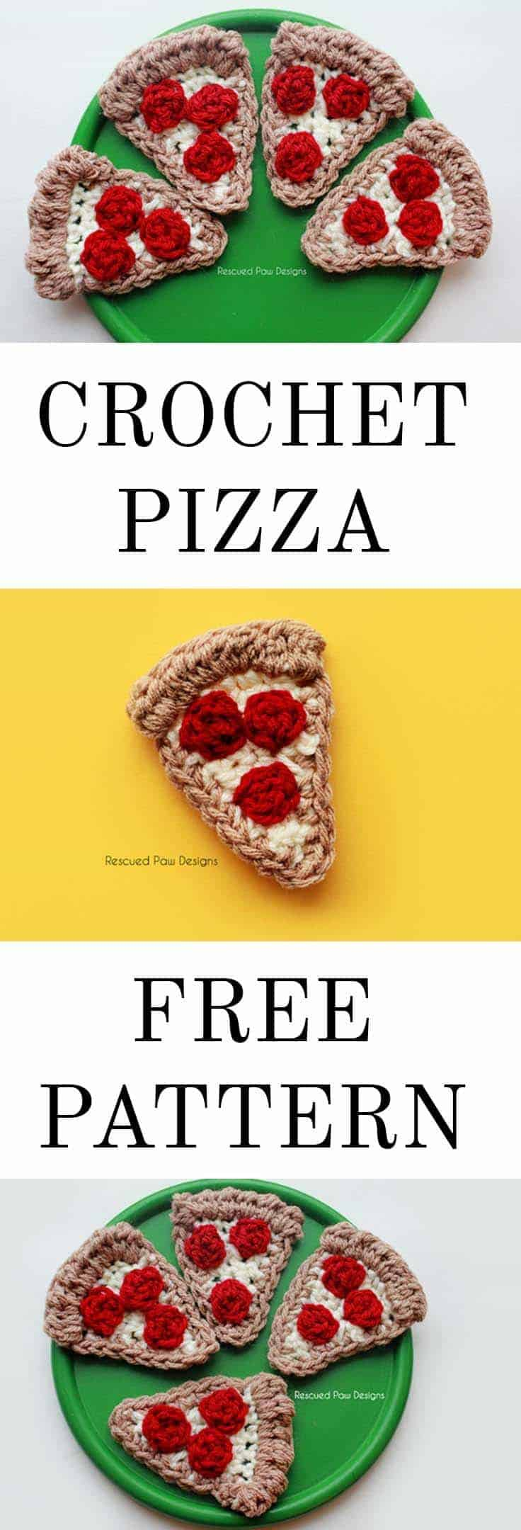 Crochet Pizza Applique