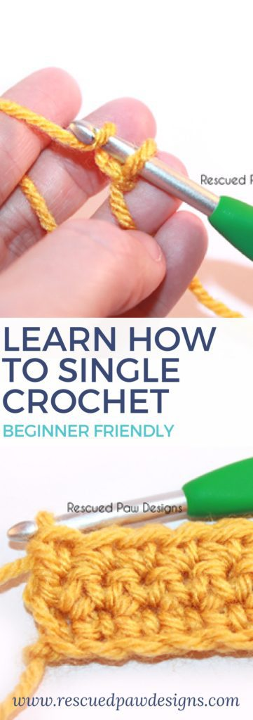 Learn the single crochet stitch today!