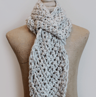 Pull Through Adjustable Crochet Scarf Pattern :: Rescued Paw Designs