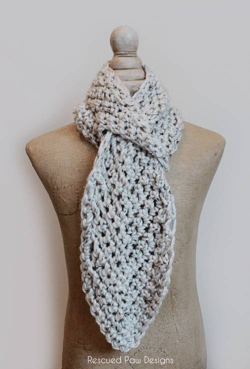 Pull Through Adjustable Crochet Scarf Pattern :: Rescued Paw Designs - Crochet Scarf - Free Pattern
