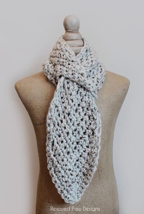 Free Printable Easy Crochet Scarf Patterns : Adjustable Crochet Scarf Free Pattern ? Rescued Paw ...