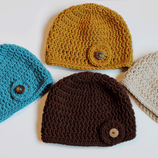 Beginner Double Crochet Hat Pattern