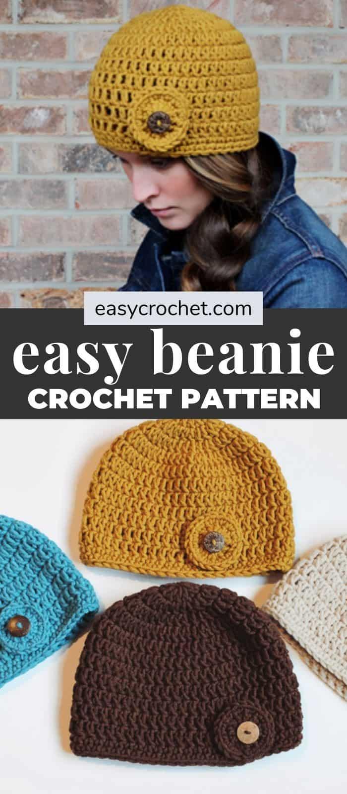Free Crochet Hat Pattern for Women using only the double crochet from Easy Crochet via @easycrochetcom