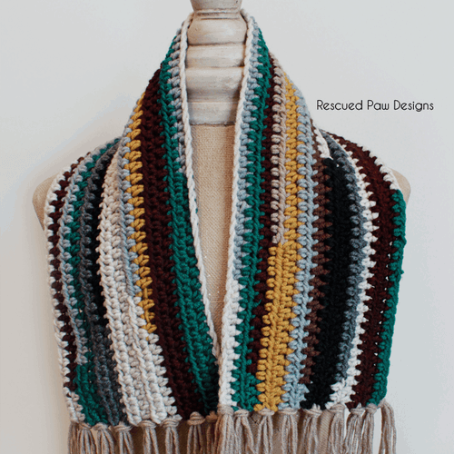 Crochet Scrap Scarf Pattern