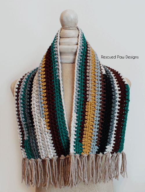Crochet Scrap Scarf Pattern