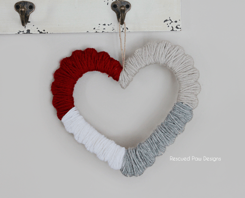 Yarn Wrapped Heart – Valentine's Day