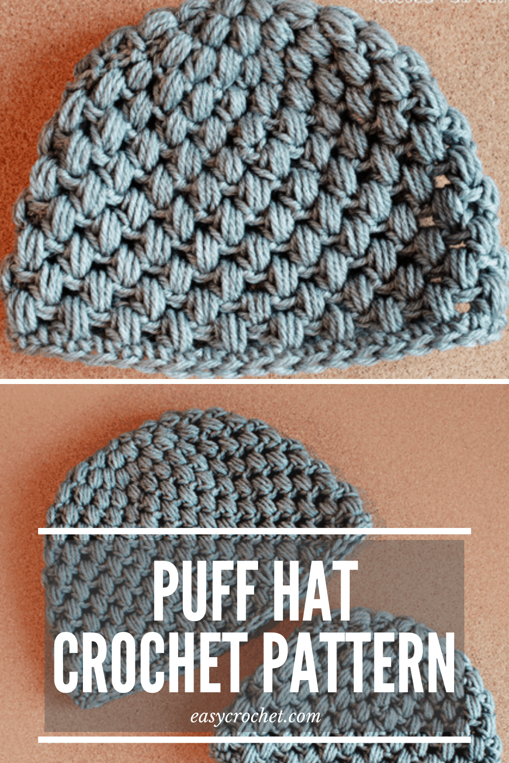 Free Crochet Puff Stitch Hat Pattern from Easy Crochet. Free Crochet Beanie Pattern!  via @easycrochetcom