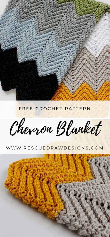 Chevron Crochet Blanket Pattern - Chevron Crochet Baby Blanket Sizes